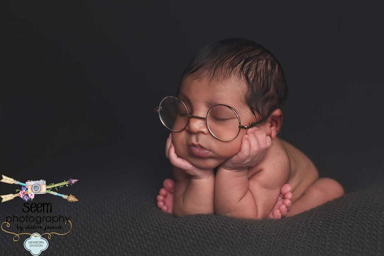 Bookworn Glasses Newborn SEEM photography