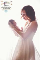 Smiling Newborn Mother SEEM photography