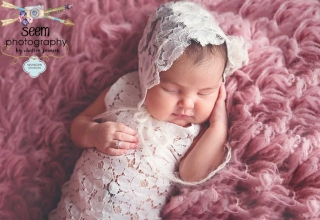Sleeping on Pink Rug SEEM photography