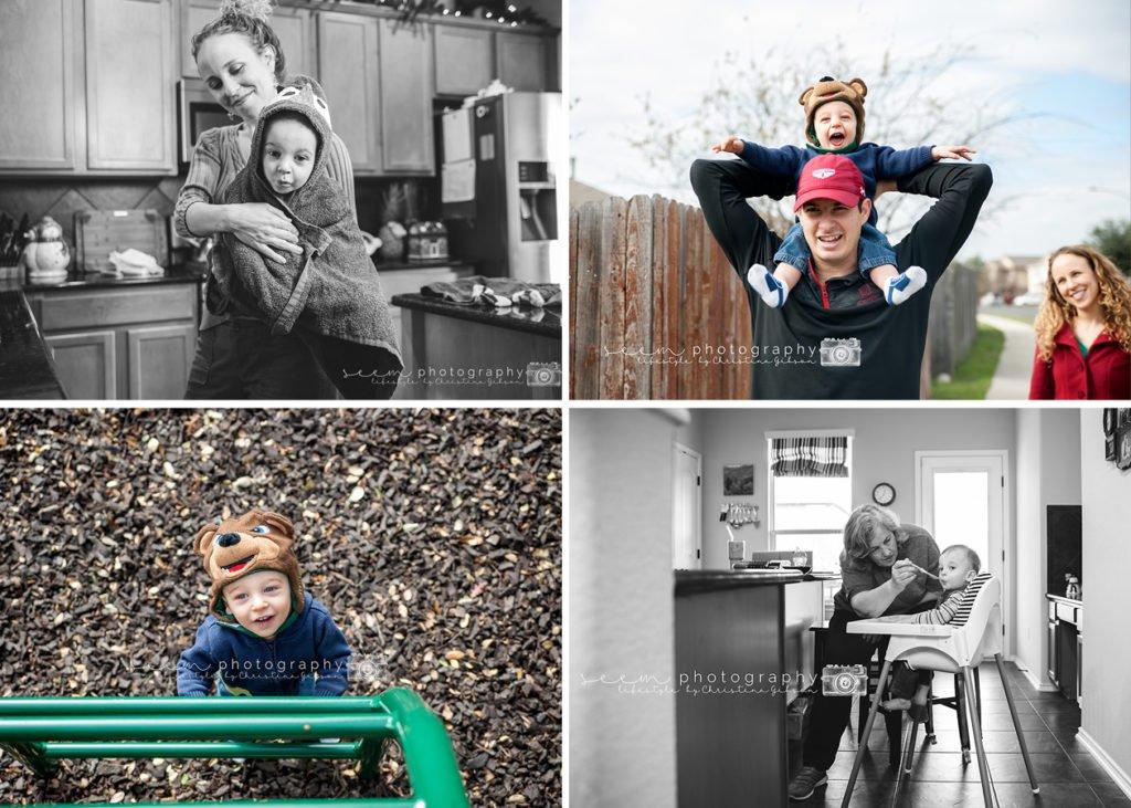 Houston Lifestyle Photographers SEEM photography Lifestyle Collage