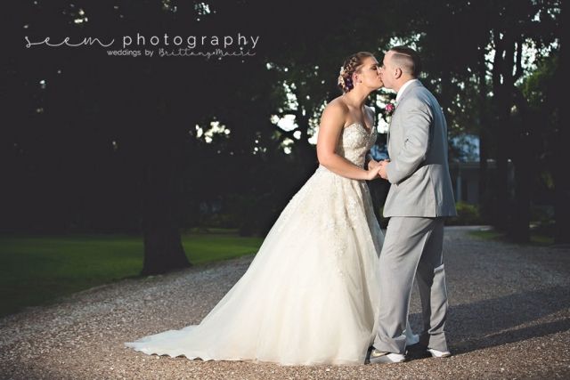 Houston Wedding Photographers SEEM photography Bride Groom Kiss