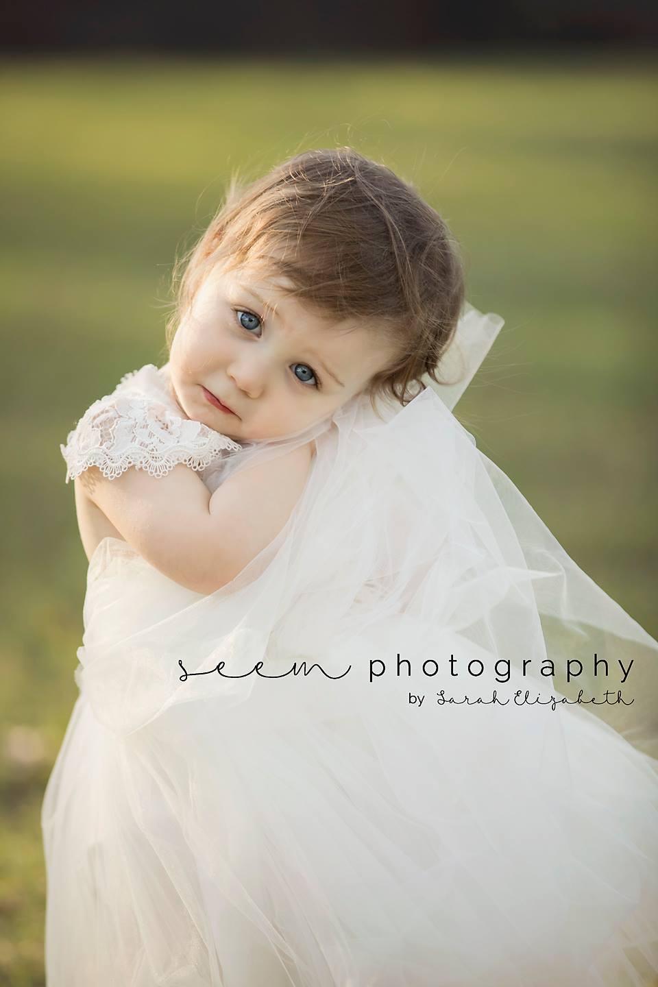Houston Children Photographers SEEM photography White Dress