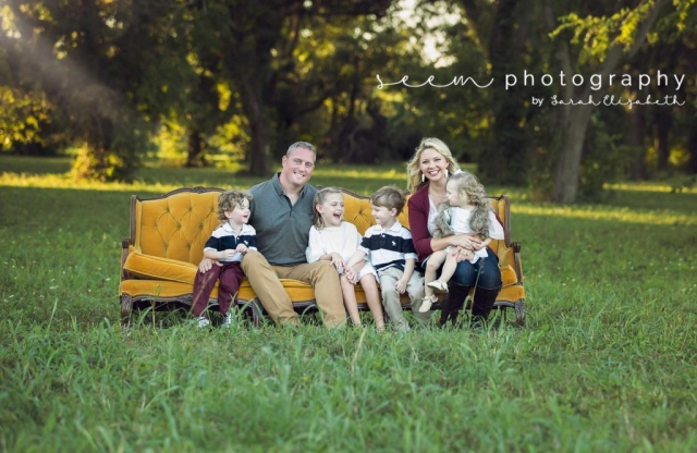 Houston Family Photographers SEEM photography Yellow Couch