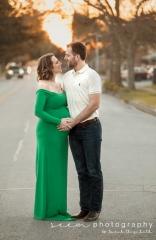 Houston Maternity Photographers SEEM photography Couple Embraces in Street