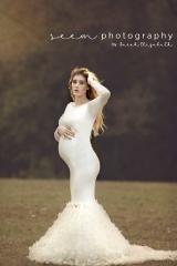 Houston Maternity Photographers SEEM photography White Dress Outdoors