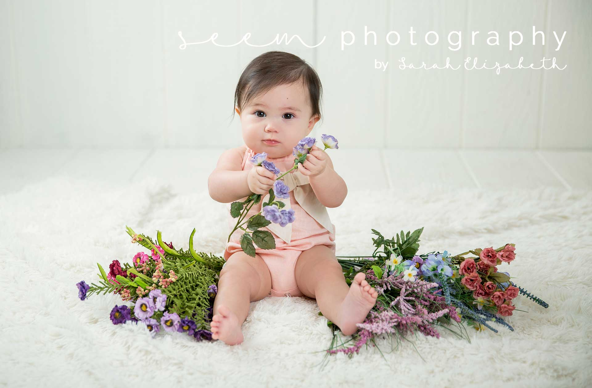 Houston Sitter Photographers SEEM photography Baby Flowers