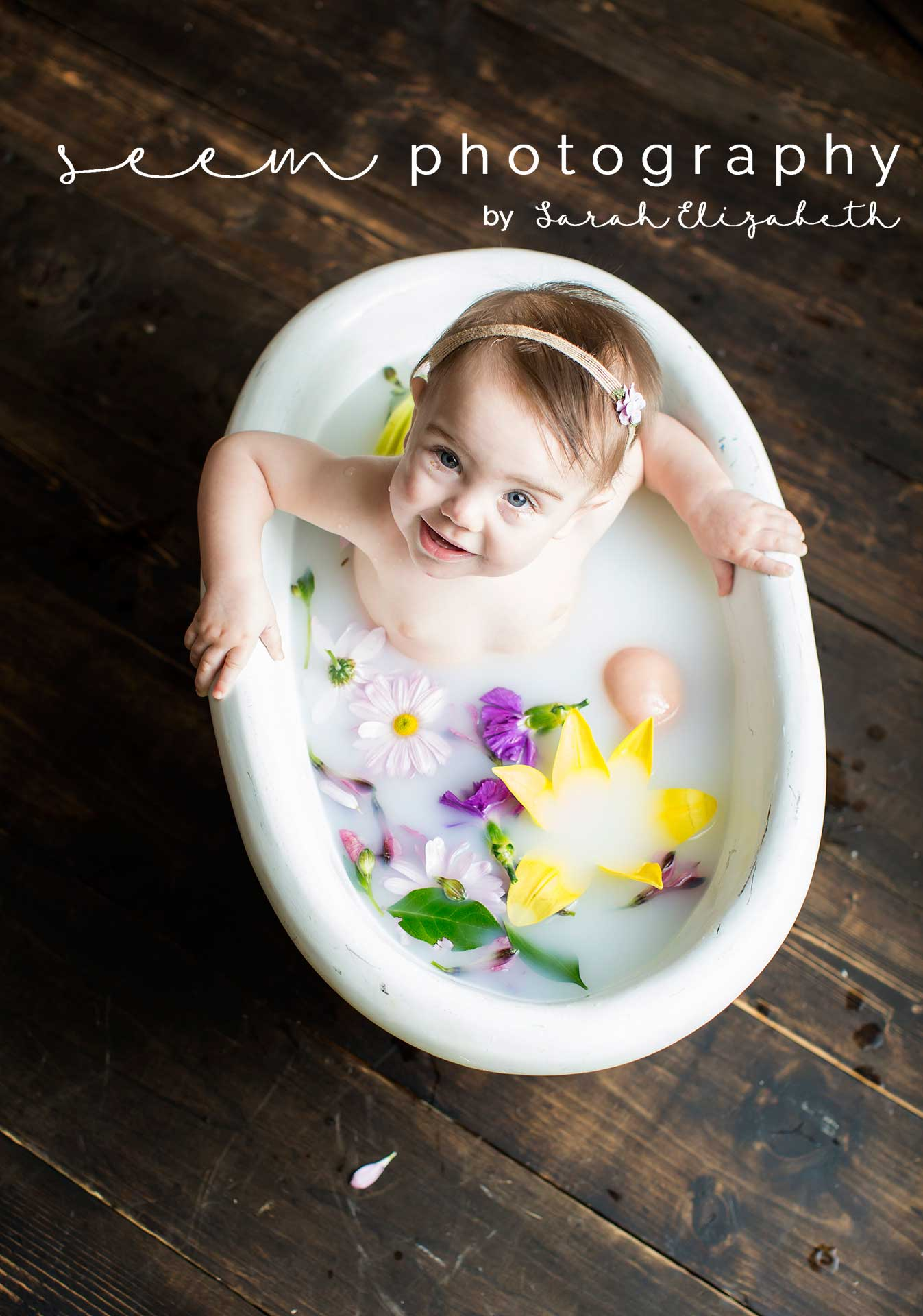 Houston Sitter Photographers SEEM photography Milk Bath Tub