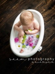 Houston Sitter Photographers SEEM photography Milk Bath