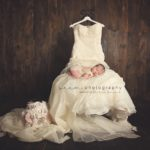 Houston Newborn Photographers SEEM photography Sleeping Wedding Dress