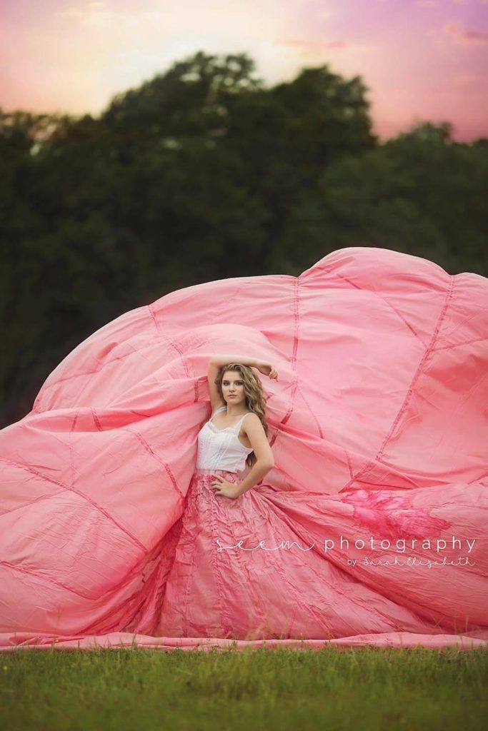 SEEM photography Houston Photographers Wide Pink Dress