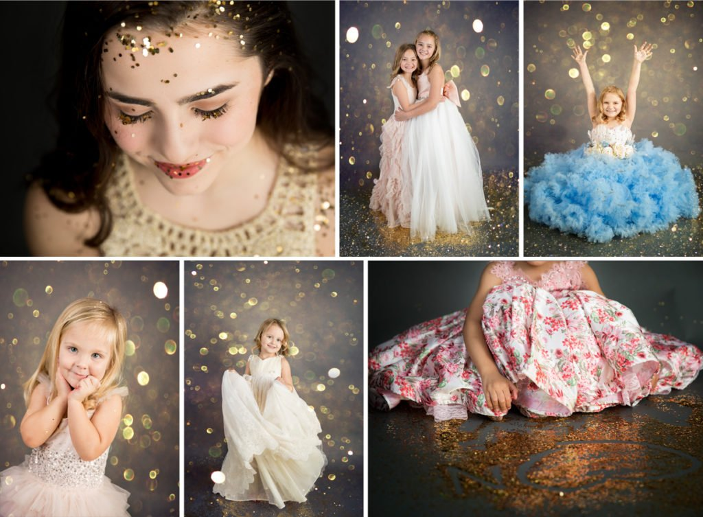 SEEM photography Glitter Session collage