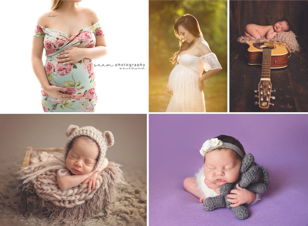 SEEM photography Maternity and Newborn collage