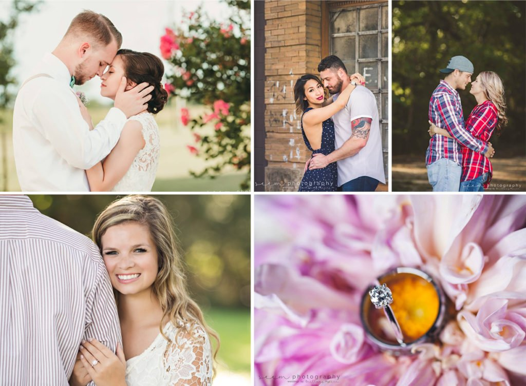 Houston Wedding Photographers SEEM photography Engagement Wedding Collage