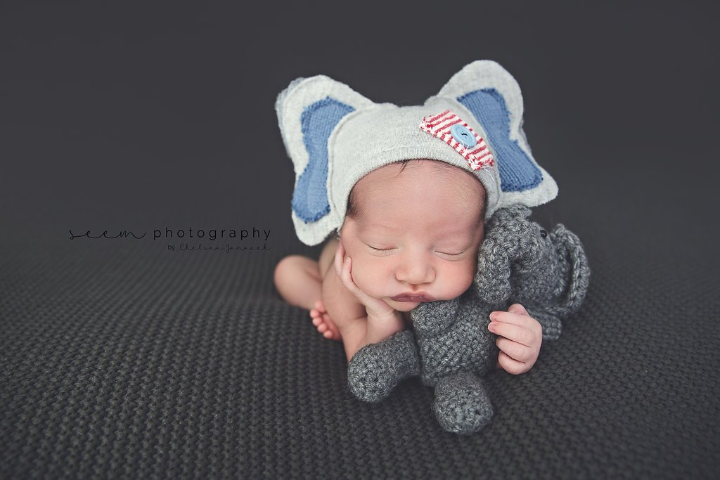 SEEM photography Newborns Elephant Outfit