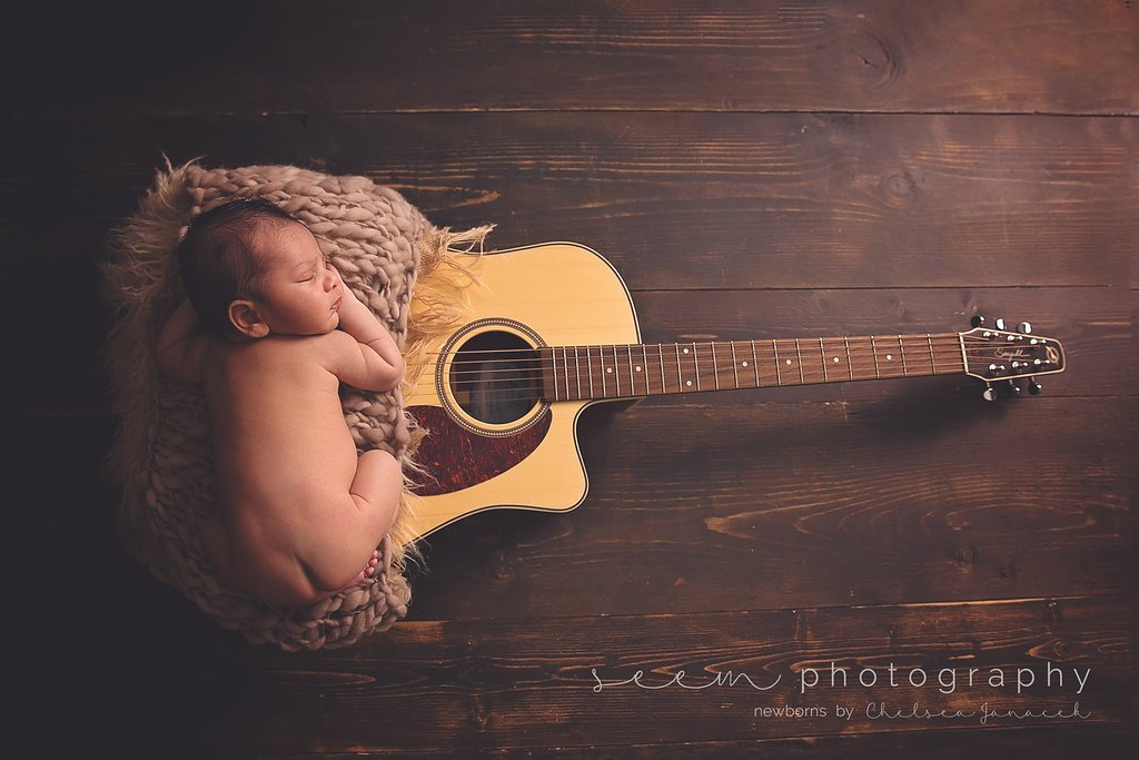 SEEM photography Newborns with a Guitar