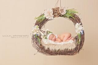 SEEM photography Newborns on a Basket Swing