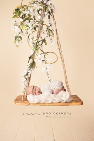 SEEM photography Newborns on a Swing