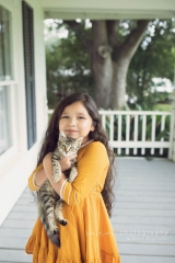 SEEM photography Child and Cat on Porch