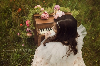 SEEM photography Playing Piano in a Field