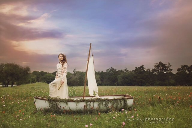 SEEM photography Girl on a Sailboat in a Field