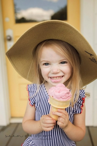 SEEM photography Child with Ice Cream Cone