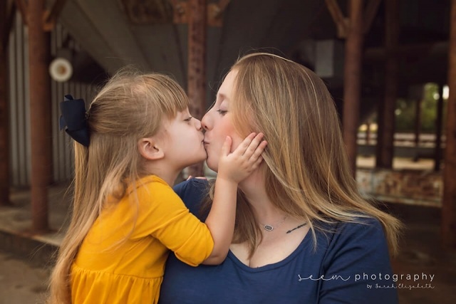SEEM photography Mother and Child Kissing