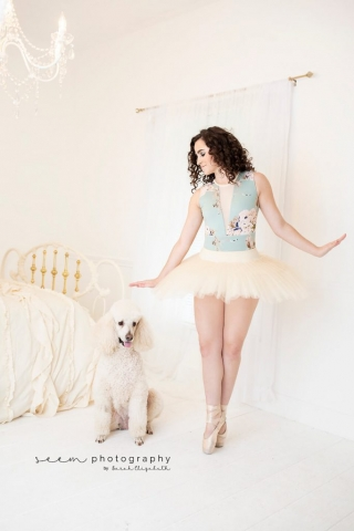 SEEM photography Poodle in White Room
