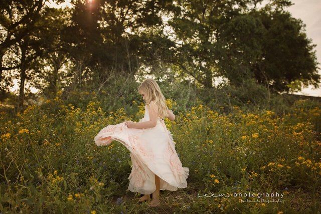 SEEM photography Child in Yellow Flower Field in Dress