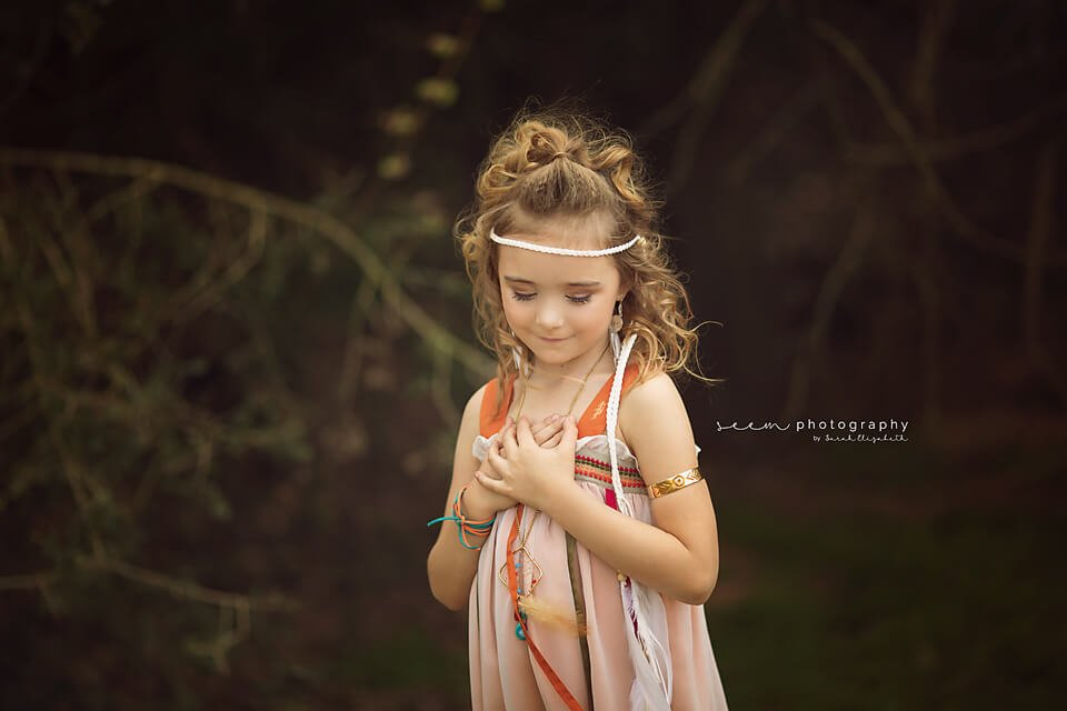 SEEM photography Boho Child in Field