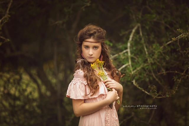 SEEM photography Boho Child Flowers