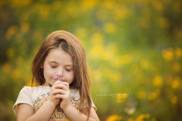 SEEM photography Child Smelling Flowers