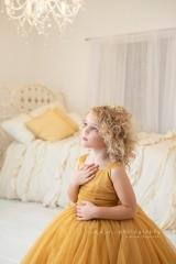 SEEM photography Child Yellow Dress Chandelier