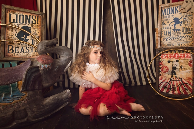 SEEM photography Circus Child with Elephant