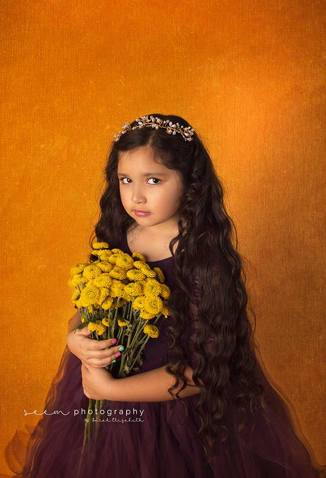 SEEM photography Fine Art Young Girl holding Flowers