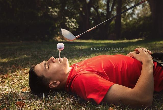 SEEM photography Senior Golfing