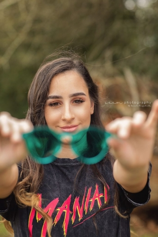 SEEM photography Senior with Green Glasses